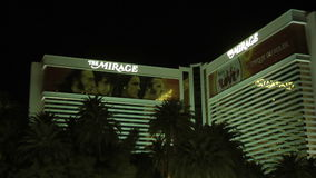 The Mirage Hotel in Las Vegas on CIRCA 2014,The Mirage was the most expensive hotel-casino in history stock video footage