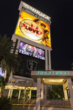 The Mirage Hotel sign featuring the Beatles Love Show in Las Veg Royalty Free Stock Images