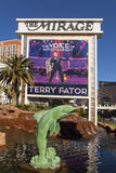 The Mirage Hotel Sign in Las Vegas, NV on December 10, 2013 Stock Photo