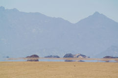 Mirage In Desert Royalty Free Stock Photo