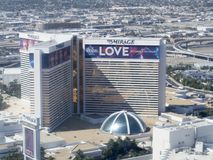The Mirage Las Vegas seen from the High Roller stock photo