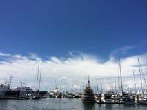 Miragem do porto Fotos de Stock Royalty Free
