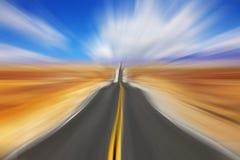 Miraggio sull'alta velocità Fotografia Stock