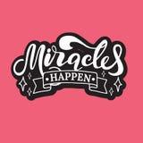 Mirakel händer bokstäver Hand tecknad vektorillustration beståndsdel för reklamblad, baner och affischer Modern kalligrafi vektor illustrationer