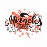 Mirakel händer bokstäver Hand tecknad vektorillustration beståndsdel för reklamblad, baner och affischer Modern kalligrafi royaltyfri illustrationer