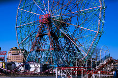 Mirakel- rulla in Coney Island Arkivbilder