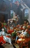 Mirakel som tillskrivs till Jesus som kureras en paralytiker på Capernaum arkivfoto
