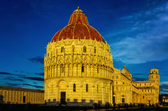 Mirakelfyrkant, Pisa, Tuscany, Italien Arkivfoto