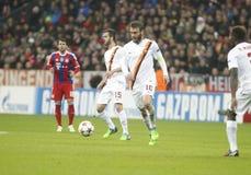 Miralem Pjanić and Daniele De Rossi Bayern Munich v AS Rome Champion League Royalty Free Stock Photos