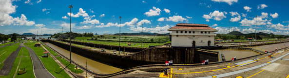 Miralflores locks at the Panama Canal Stock Images