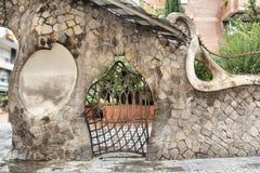 Miralles Gate (Finca Miralles) in Barcelona Stock Image