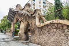 Miralles Gate (Finca Miralles) in Barcelona Royalty Free Stock Image