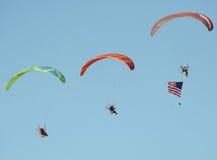 Miramar Airshow 2016 drei Fallschirme Lizenzfreies Stockfoto