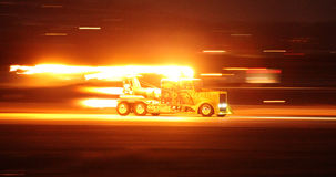 MIRAMAR, CA - OCT 3: The Shockwave Jet Truck rockets down the runway at the Miramar Air Show in Miramar, CA on Oct 3, 2015.  Stock Image