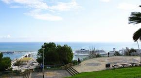 Miramar Gardens on Montjuic to the bottom port Royalty Free Stock Photo