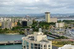 Miramar horisont, San Juan, Puerto Rico royaltyfria foton