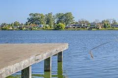 Miramar Parque λίμνη σε Canelones Ουρουγουάη Στοκ Φωτογραφίες