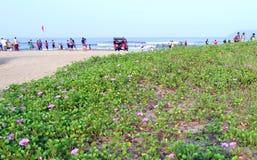 Miramar plaża, Goa Zdjęcia Stock