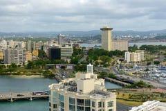 Miramar skyline, San Juan, Puerto Rico Royalty Free Stock Photos