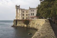 Miramare城堡 库存图片