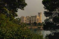 Miramare城堡 库存照片
