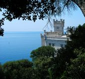 Miramare castle. (Italy) built between 1856 and 1860 Royalty Free Stock Images