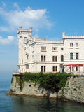Miramare Castle above sea Stock Photo