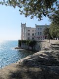 Miramare Castle. The beautiful Miramare Castle near Trieste, Italy Royalty Free Stock Image