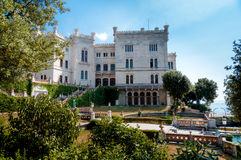 Miramare castle and gardens Royalty Free Stock Photos