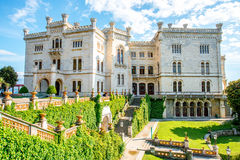 Miramare castle in Italy Stock Image