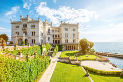 Miramare castle in Italy Royalty Free Stock Images