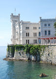 Miramare castle, near italian city Trieste royalty free stock images