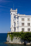 Miramare Castle and the sea Stock Photos