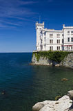 Miramare castle by the sea Royalty Free Stock Photos