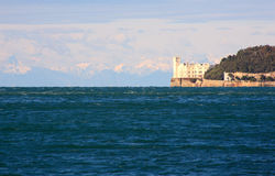 Miramare castle in Trieste Royalty Free Stock Photography