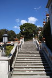 Miramare Castle, Trieste Italy. Steep stairs of Miramare Castle in Trieste Italy royalty free stock image