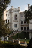 Miramare Castle, Trieste Italy. The Miramare Castle in Trieste Italy in an ornamental garden Stock Images
