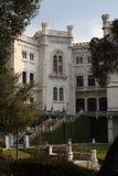 Miramare Castle, Trieste Italy. The Miramare Castle in Trieste Italy in an ornamental garden stock images