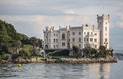 Miramare Castle in Trieste, Italy Stock Images