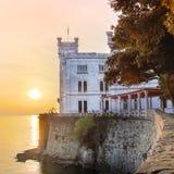 Miramare Castle, Trieste, Italy, Europe. stock image