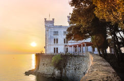 Miramare Castle, Trieste, Italy, Europe. Royalty Free Stock Images