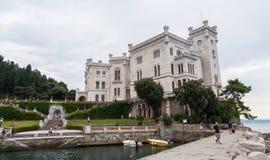 Miramare castle, Trieste, Italy. Stock Image
