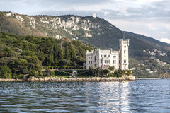Miramare Castle in Trieste, Italy Royalty Free Stock Images