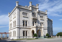 Miramare Castle in Trieste (Italy) Stock Images