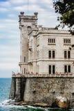 Miramare do castelo de trieste Fotos de Stock Royalty Free