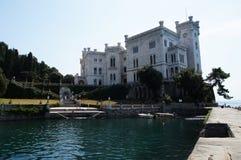 Miramare kasztel - Trieste, Włochy Obrazy Royalty Free