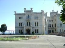 Miramare kasztel w Triest, Włochy Fotografia Royalty Free