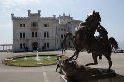 Miramare slott - Trieste, Italien Fotografering för Bildbyråer