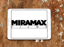 Miramax films logo. Logo of miramax films on samsung tablet on wooden background Stock Photography
