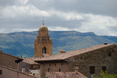 Mirambel rooftops in Teruel Stock Images